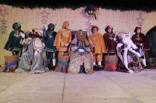 Els Reis d'Orient, a l'escenari de la plaça d'Antoni Baqué.