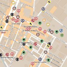 Mapa actuacions via pública