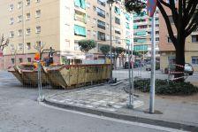Obres a la plaça de Catalunya.